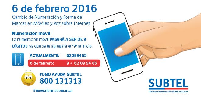 """Cámbiate a la """"Nueva Forma de Marcar"""" con la App de Subtel"""