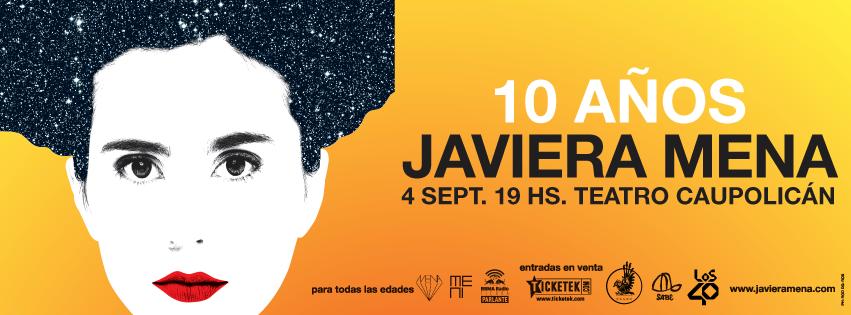 Javiera Mena celebrara este domingo sus 10 años de trayectoria