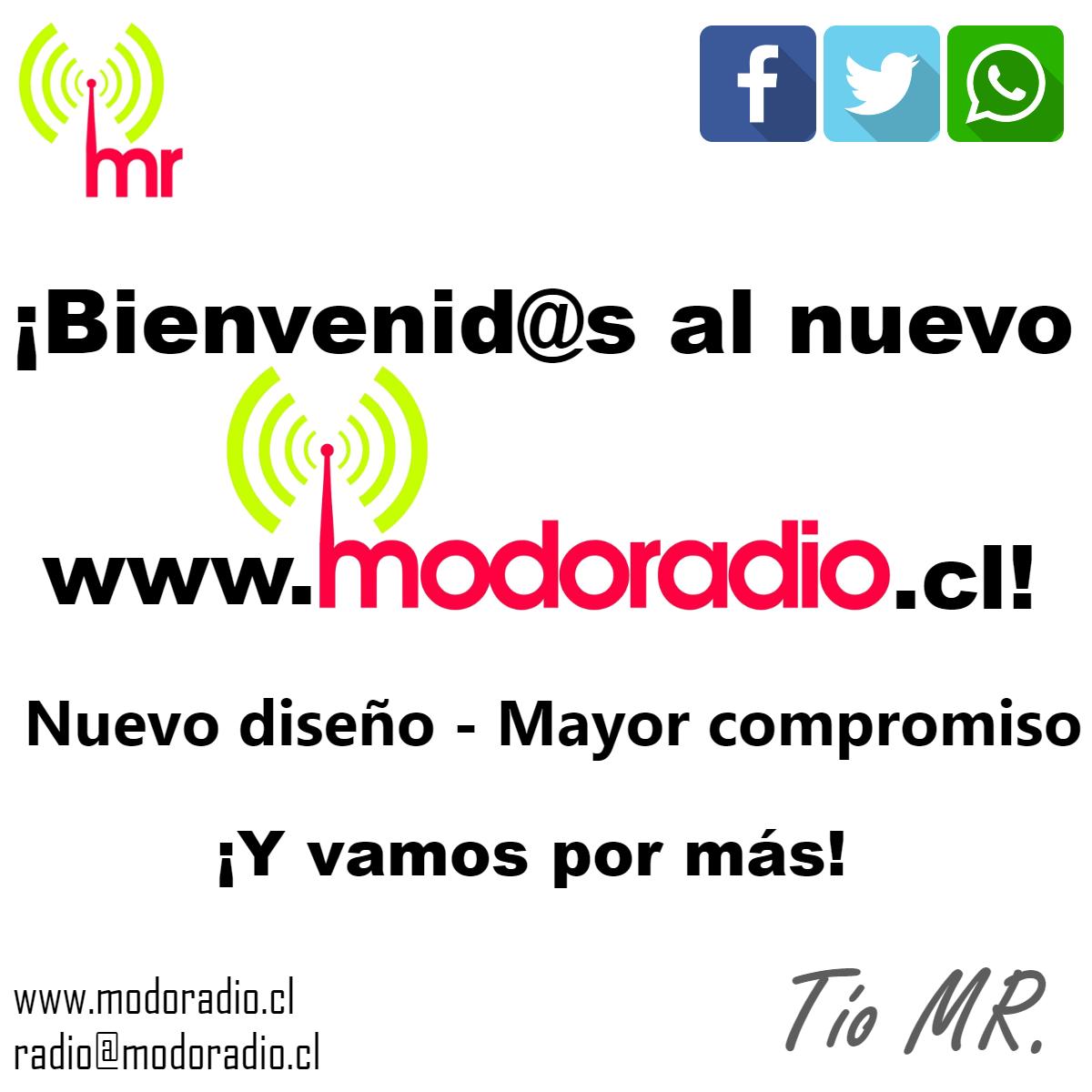¡Sorpresa! Bienvenidos al nuevo www.modoradio.cl :D
