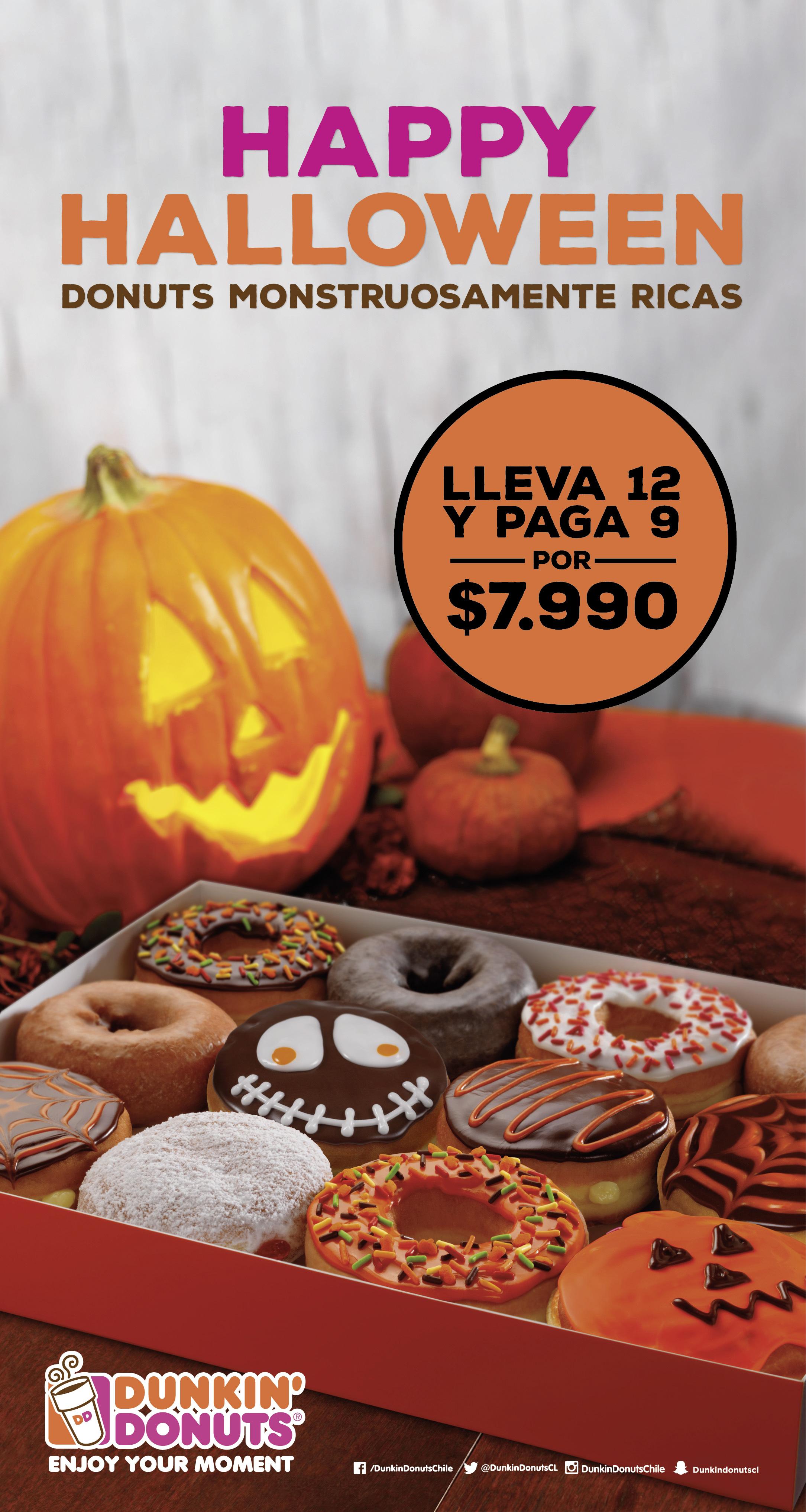 Dunkin Donuts tiene promoción de miedo por Halloween
