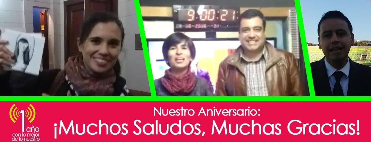 #ModoAniversario: ¡Muchos Saludos, Muchas Gracias!