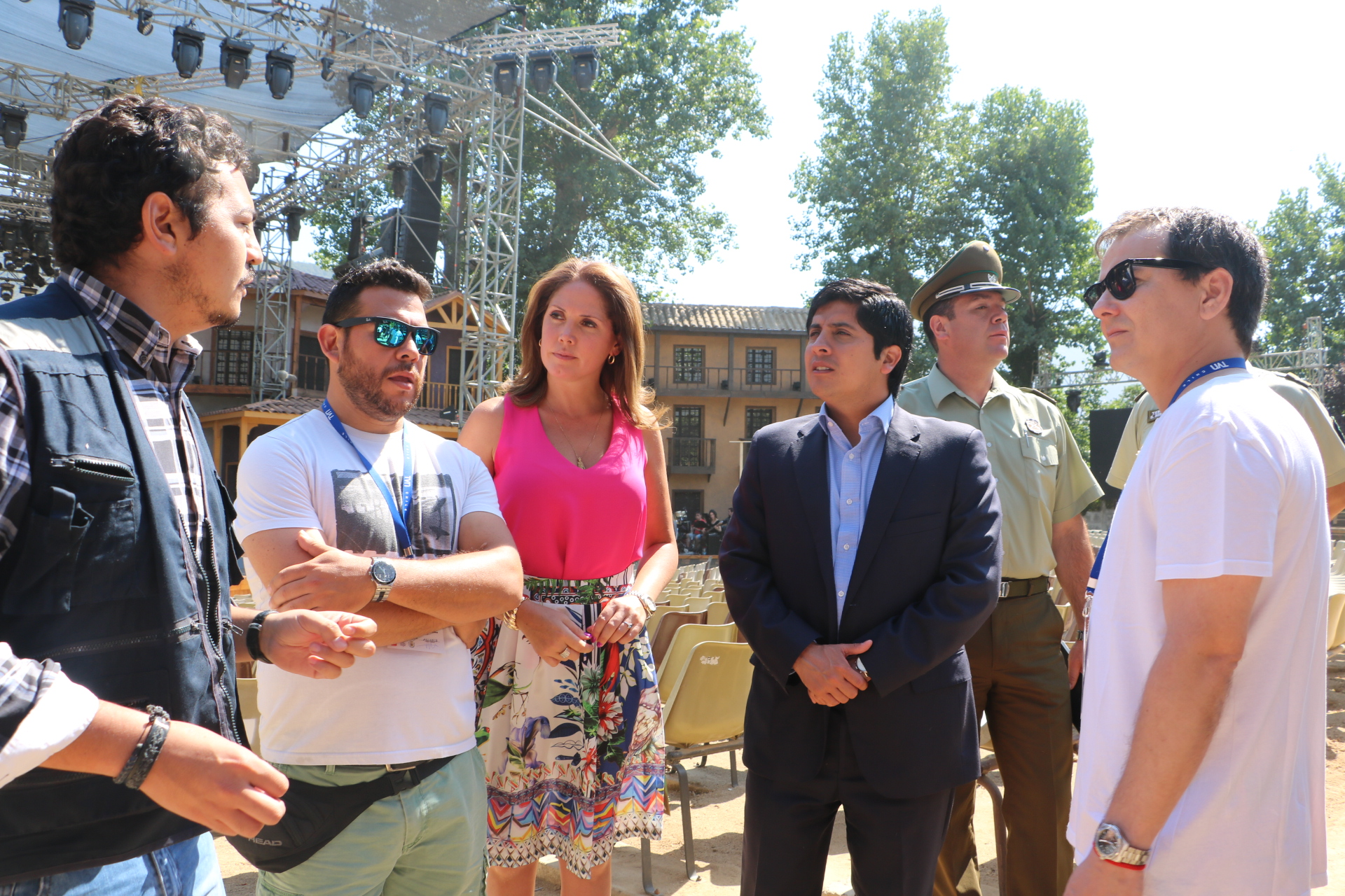 """Autoridades realizaron visita inspectiva a las instalaciones del """"Festival del Huaso"""" de Olmué"""