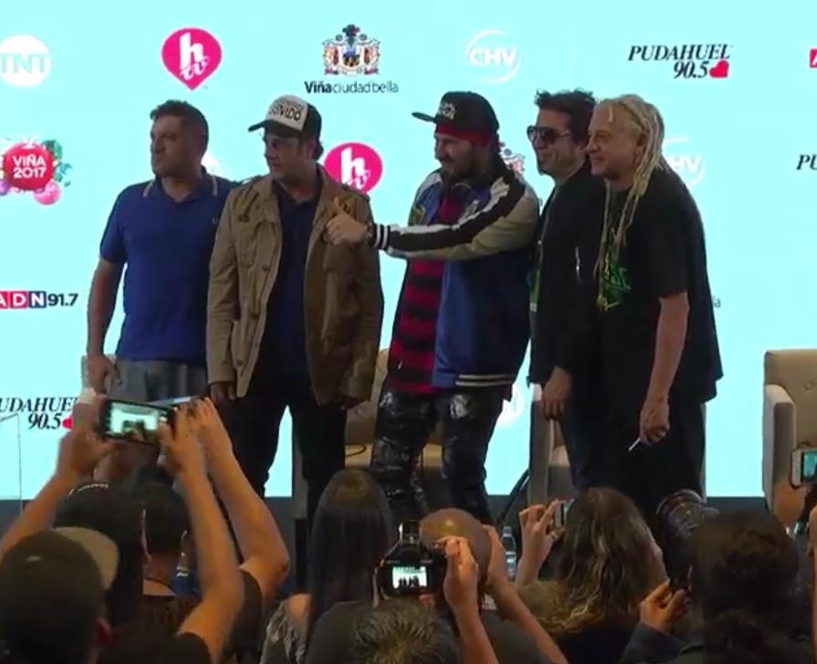 #ModoViña2017 Los Autenticos Decadentes se preparan para cerrar la Primera Noche