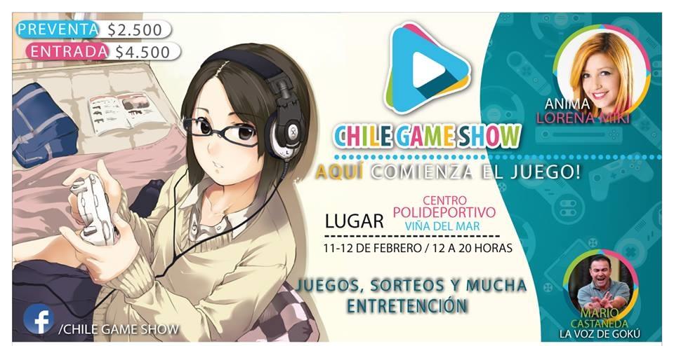 """De la mano de """"Goku"""" y Lorena Miki se viene el """"Chile Game Show"""" en Viña del Mar"""