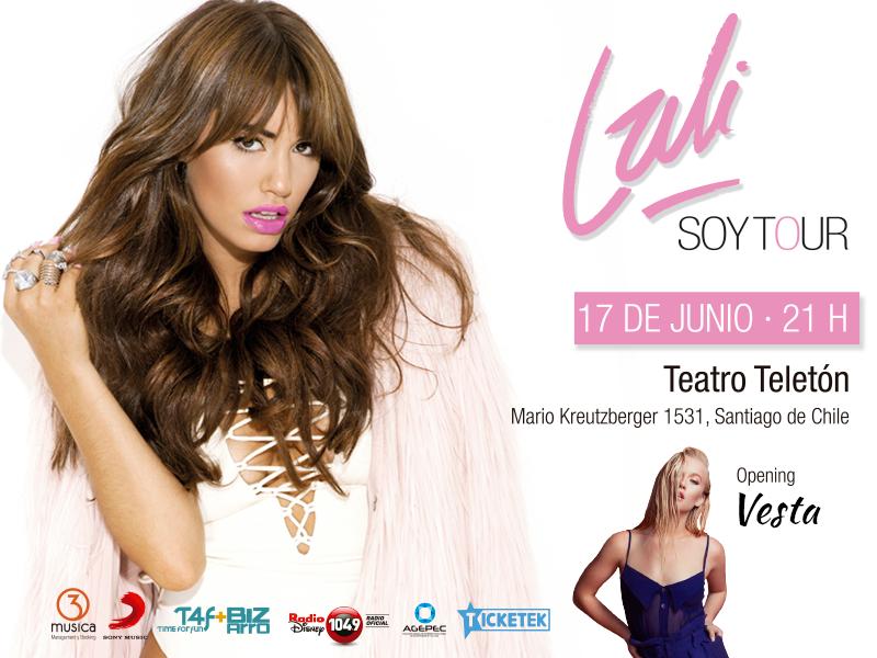 Vesta Lugg será la telonera del show de Lali en Chile