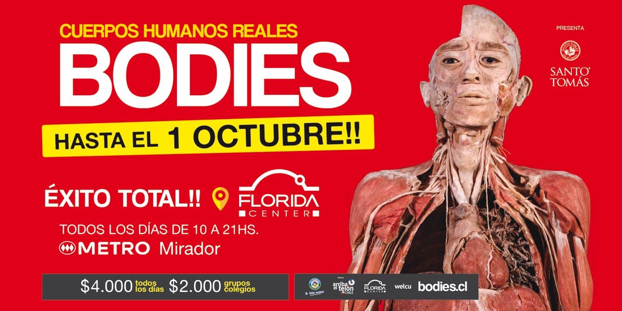 Éxito de Bodies cuerpos reales extiende su exhibición hasta el 1 de octubre