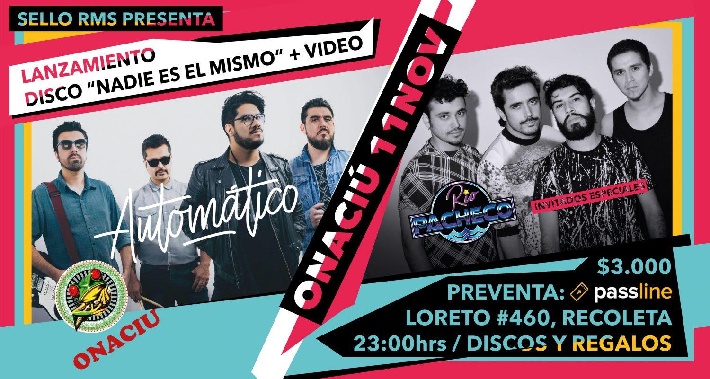 "Banda ""Automático"" lanza su segundo disco en Santiago junto con ""Rio Pacheco"""