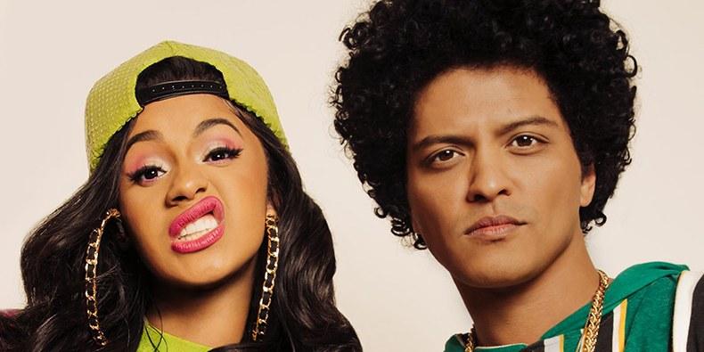 """Bruno Mars presenta nueva versión de """"Finesse"""" junto a Cardi B."""