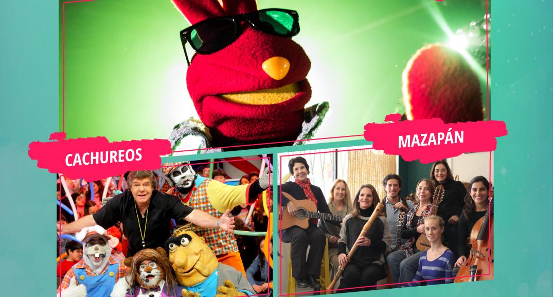 Cachureos, Mazapan y 31 Minutos se juntan en el primer Festival para Niños.