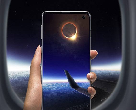 Samsung invita a fotografiar el eclipse solar desde un avión