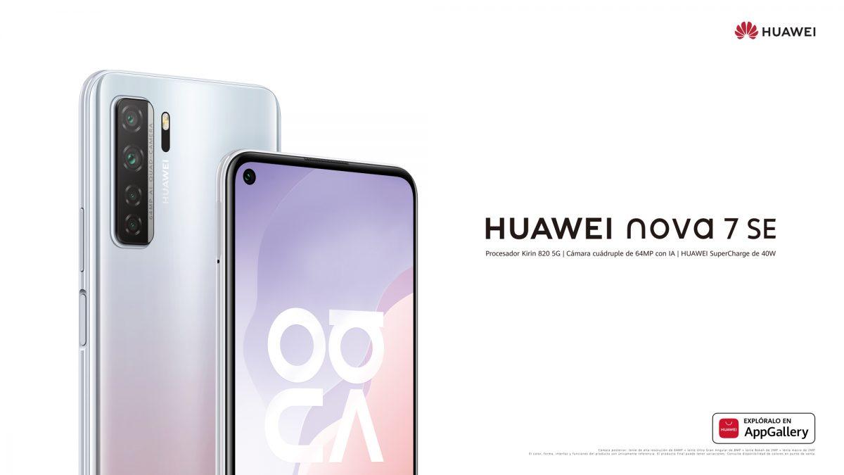 Llega a Chile el HUAWEI Nova 7 SE: Con gran pantalla, cuatro cámaras y un poderoso procesador