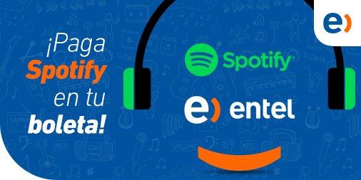 """Clientes Entel podrán pagar su plan """"Spotify Familiar"""" en su boleta mensual"""