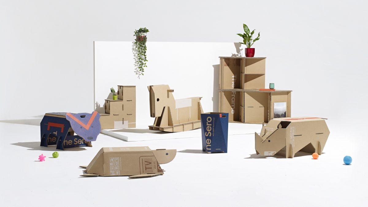 Samsung y la revista Dezeen premian idea de embalaje ecológico que se convierte en animales