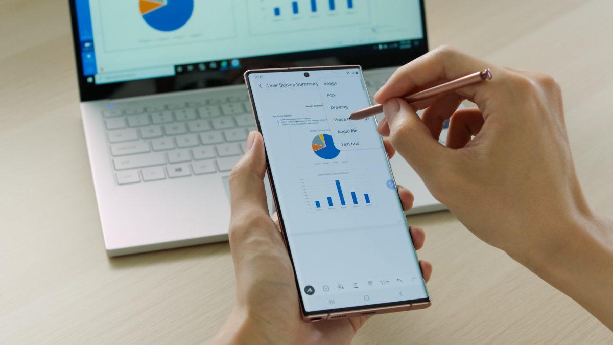 Cinco momentos en los que el S Pen eleva la productividad del Galaxy Note20