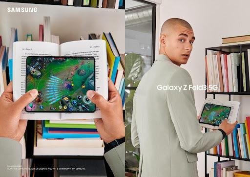 El Galaxy Z Fold3 5G es el primer Smartphone plegable del mundo con cámara delantera bajo la pantalla