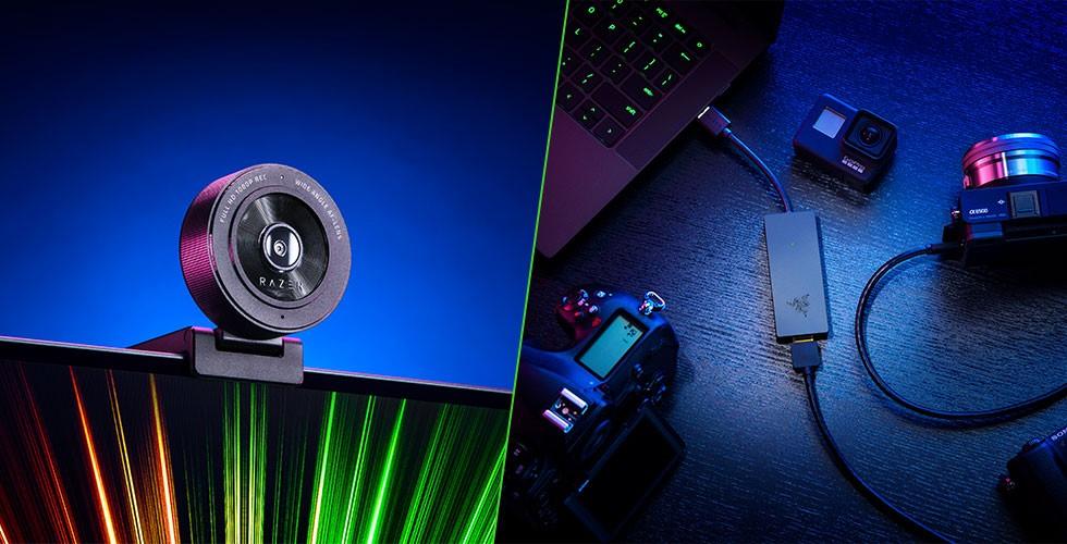 Razer lanza nuevos productos: Su webcam Kiyo X y su capturadora Ripsaw X
